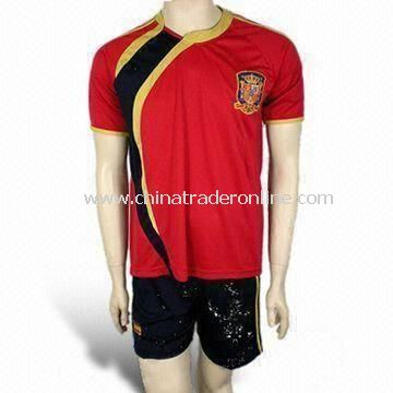 Football/Soccer Jersey/Sports Wear, Various Sizes are Available, Made of 100% Polyester