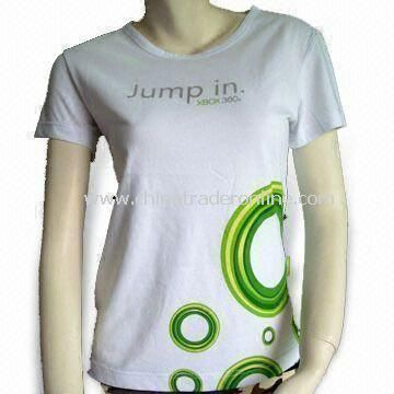 Knitted T-shirt with Water Print, Customized Designs and Logos are Accepted