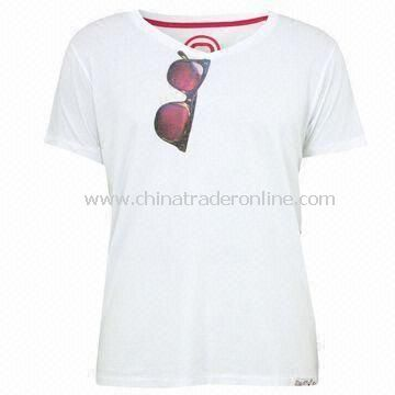 Knitted T-shirts, Various Colors Available, Made of 100% Cotton