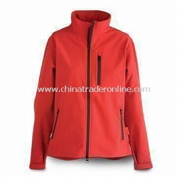 Mens Outdoor Jacket/Sportswear with Elastic Cuff, Wind/Waterproof and Breathable Feature