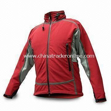 Mens Outdoor Jacket/Sportswear with Fleece-lined, Wind/Waterproof and Breathable Features