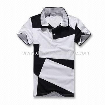Mens T-shirt, Customized Designs and Sizes Welcomed, Made of 100% Cotton Material