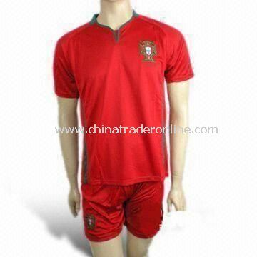 Soccer/Football Jersey/Sports Wear, Made of 100% Polyester, Weighs 260g