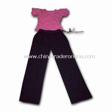 Womens Sportswear for Yoga, Includes Tanktop and Long Pants, Customized Logos are Welcome from China