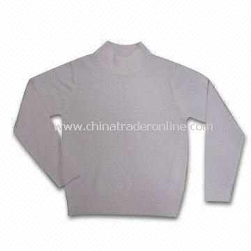 100% Soft Acrylic Womens Sweater, Weighs 270g