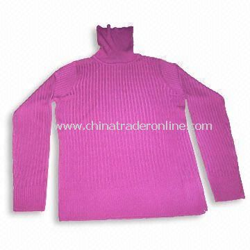 100% Soft Acrylic Womens Sweater with Good Hand Feel