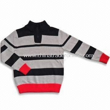 Baby Sweater, ODM Orders are Welcome, Made of 65% Rayon and 35% Cotton