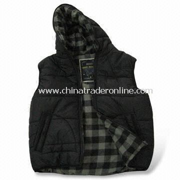 Casual Jacket, Suitable for Men, Made of 100% Cotton, OEM Orders are Welcome, Available in Black from China