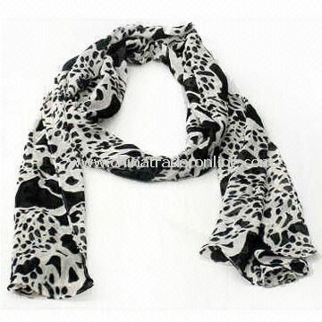 Charm/Scarf/Shawl for Ladies, Made of Chemical Fiber, OEM and ODM Orders are Welcome