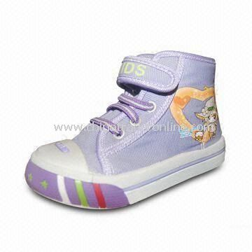 Lovely Childrens Canvas Shoes in Various Styles/Colors/Sizes, with High-quality Pretty Appearance from China