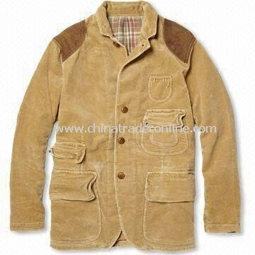 Mens Casual Jacket, Made of 100% Cotton, OEM Orders are Welcome