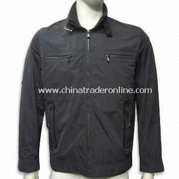 Mens Casual Jacket, Made of 100% Cotton, OEM Orders are Welcome from China