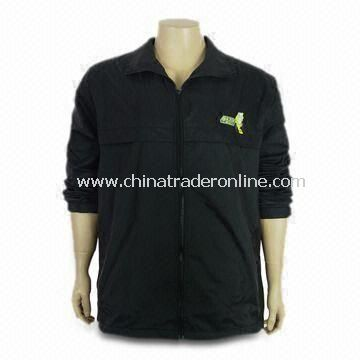 Mens Casual Long Sleeves Jacket, Made of 100% Nylon, with Reactive Dye and European Size