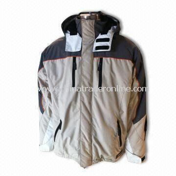 Mens Jacket with 100% Polyamide Shell and Polyester Lining, Available in Sizes of S, M, L/XL