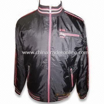 Mens Padding Jacket with PU Coating, Customized Sizes are Accepted