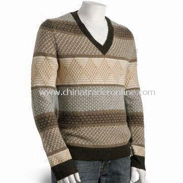 Mens Sweater with Screen Printing, Made of 100% Cotton from China
