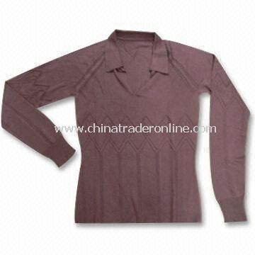 Sweater, Made of 55% Silk and 45% Cashmere, Fashionable Design