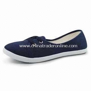 Womens Canvas Shoes, Made of EVA, Light-footed, Soft and Comfortable, Suitable for Casual Wear from China