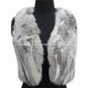 Womens Casual Jacket, Made of Rabbit Hair, No Sleeves