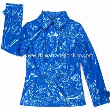 Womens Jacket PU Coated, Made of Polyester PU Coated