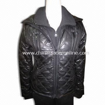 Womens Padding Jacket with 100% Polyester Taffeta 210T Lining, Made of 100% Cotton French Terry