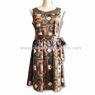 Womens Skirts/Casual Dress, Made of 97% Polyester and 3% Spandex