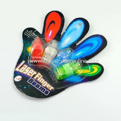 Multi-Color LED Party Light Finger Laser Beam Torch Ring