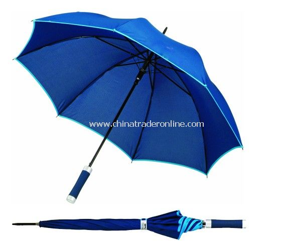 Automatic Open Black Steel Frame Blue Color Golf Umbrella