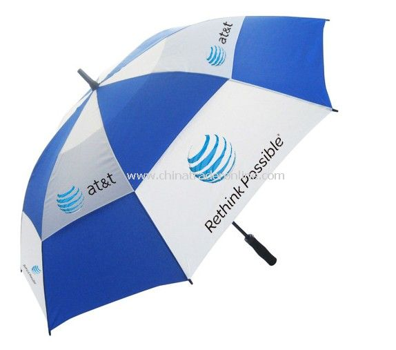 Automatic Open Double Layers Promotional Golf Umbrella