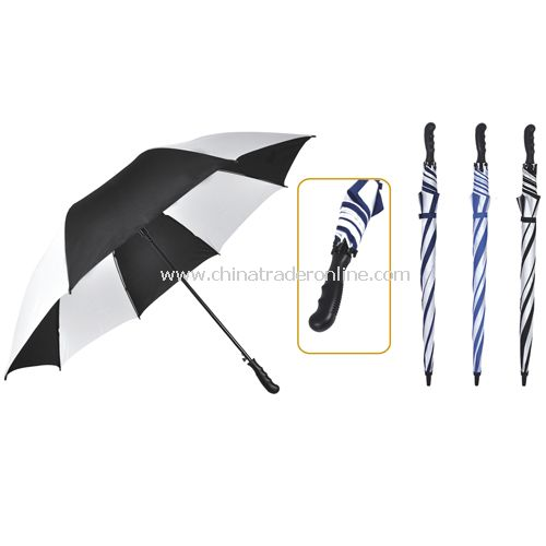 Automatic Open Fiberglass Frame Windproof Golf Umbrella
