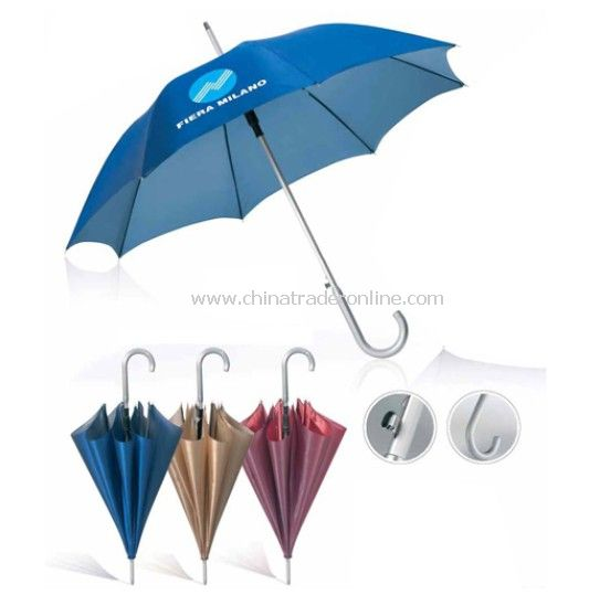 Auto Open Aluminium Umbrella with Logo Printed
