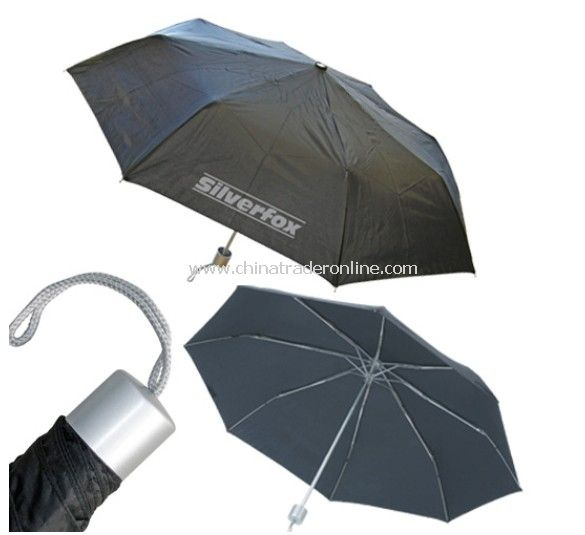 Manual Open 3 Folding Aluminum Shaft Printed Umbrella