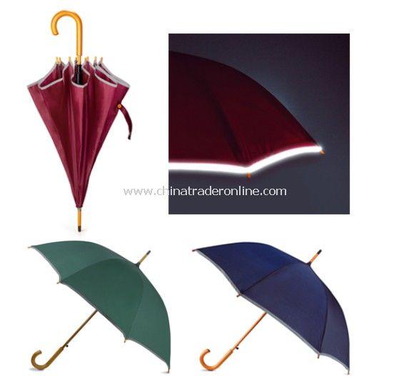 Reflective Band Straight Umbrella
