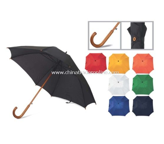 Square Umbrella Wooden Shaft Automatic Open