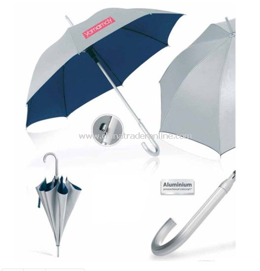 UV Anti Auto Aluminum Umbrella with Logo Printed from China