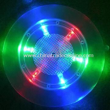 Flashing coaster for party, bar and home purposes