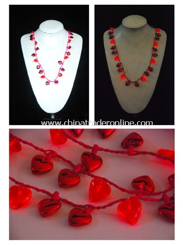 Red Heart Flashing Necklace from China