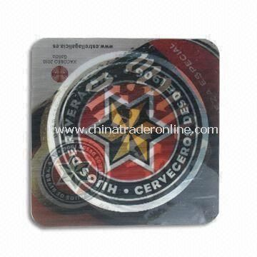Cup Mat with 3D Effects and Space for Customized Logos, OEM and ODM Orders are Welcome
