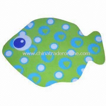 Distinctive Fish Design PVC Cup Mat for Promotion, PP /PVC Material