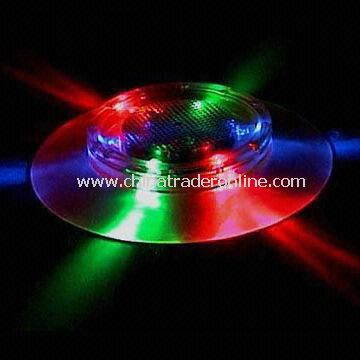 Flashing coaster for birthday parties, dancing halls and nightclubs