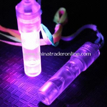 LED Flashing/Promotional Whistle, LED Whistle, Flash Whistle, CE- and RoHS-certified from China