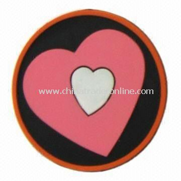 PVC Coaster/Cup mat, Available in Various Colors and Designs, OEM and ODM Orders are Welcome