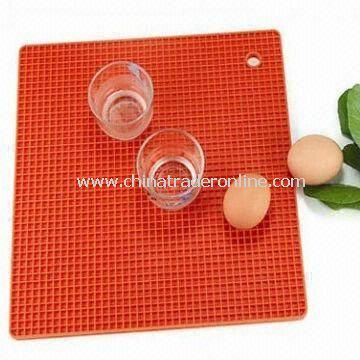 Silicone Cup Mat with Good Flexibility and Toughness, Heat-resistant