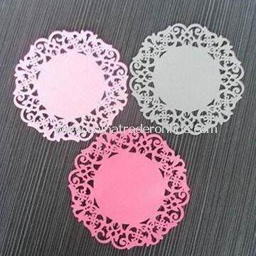 Silicone Cup Mats, Rubber Coaster with Non-stick, Flexible and Easy to Clean Customized