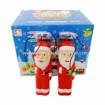 Battery-operated Toys, Christmas Santa Clause Flash Stick with Sound