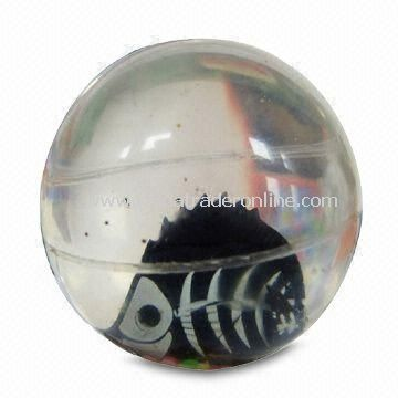 Eco-friendly High-bounce Glitter Water Ball, Customized Deisgns are Accepted from China