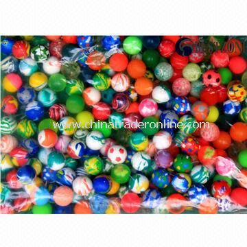 Flash Bouncing Balls, Made of Rubber, Available in 27/32/38/45/49/60/75mm Diameter