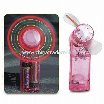Flash Mini/LED/Flashing/Light Up/Toy/Gift/Electronic/Portable Fan, Made of ABS