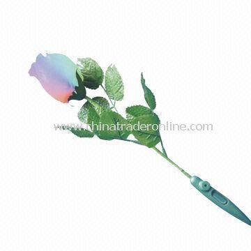 Flashing Rose-shape Gift, Rose with Lights and Flashing Different Colors Operation