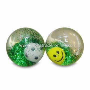 Hi-Bounce Glitter Water Balls with Eco-friendly Material, Customized Designs Acceptable